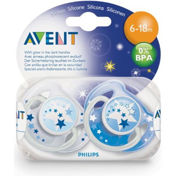 Philips Avent cumlík 6-18 Night Time 2 ks