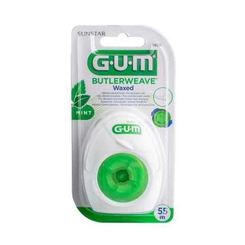 GUM Weave zubná niť voskovaná s mentolom 55 m