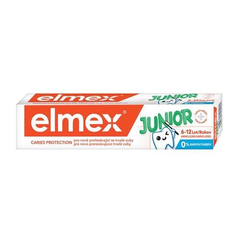 Elmex Junior 6–12 rokov zubná pasta 75 ml
