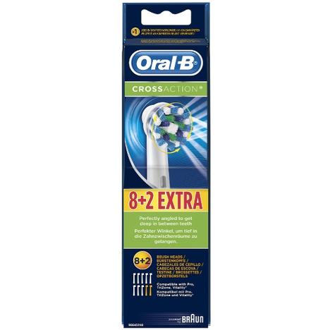 Braun Oral-B CrossAction EB 50-10 náhradné hlavice 8+2ks