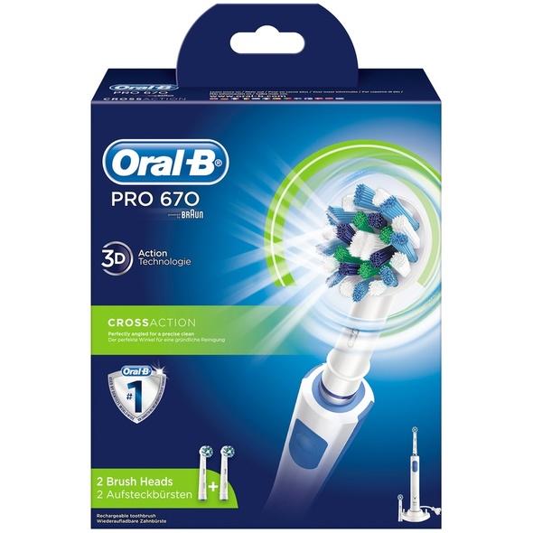 Braun Oral-B PRO 670 CrossAction zubná kefka