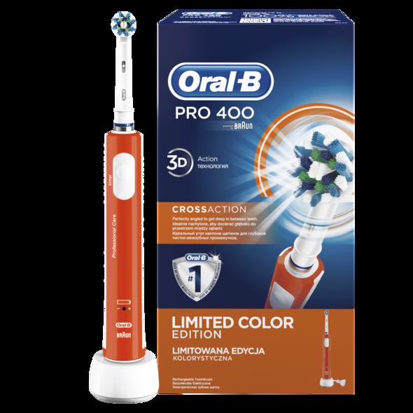 Braun Oral B PRO 400 CrossAction ORANGE zubná kefka