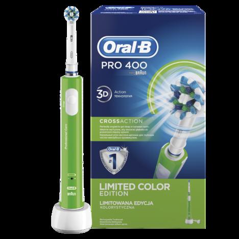 Braun Oral B PRO 400 CrossAction GREEN zubná kefka