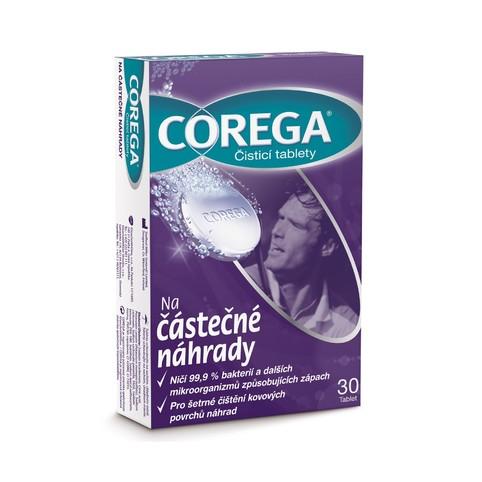 Corega na čiastočné náhrady čistiace tablety 30 ks
