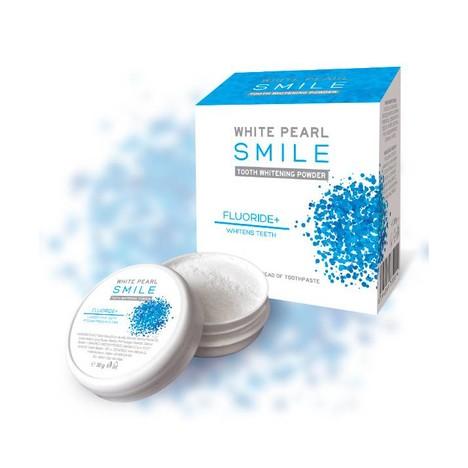 White Pearl Smile Fluor bieliaci zubný púder 30g
