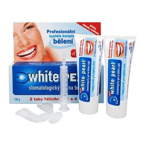 White Pearl set na domáce bielenie zubov 130 g