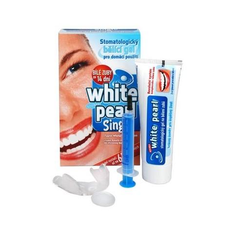 White Pearl Single set na domáce bielenie zubov 65 g