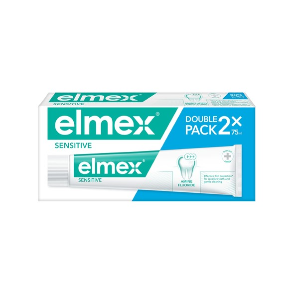 Elmex Sensitive zubná pasta 2x75 ml