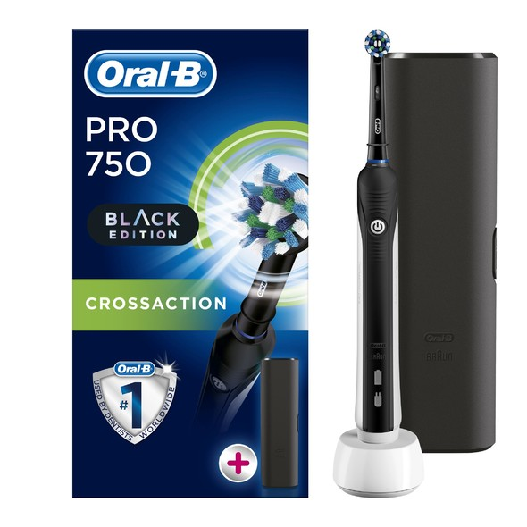 Oral-B PRO 750 CrossAction Black oscilačná kefka