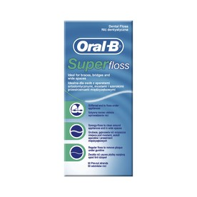 Oral-B Superfloss Mint zubná niť 50 ks