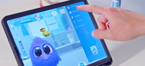 Zabavte deti u čistenia vďaka aplikácii Philips Sonicare sa Sparklym