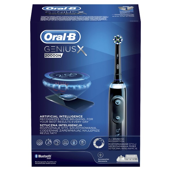Oral-B Genius X 20000N Black zubná kefka