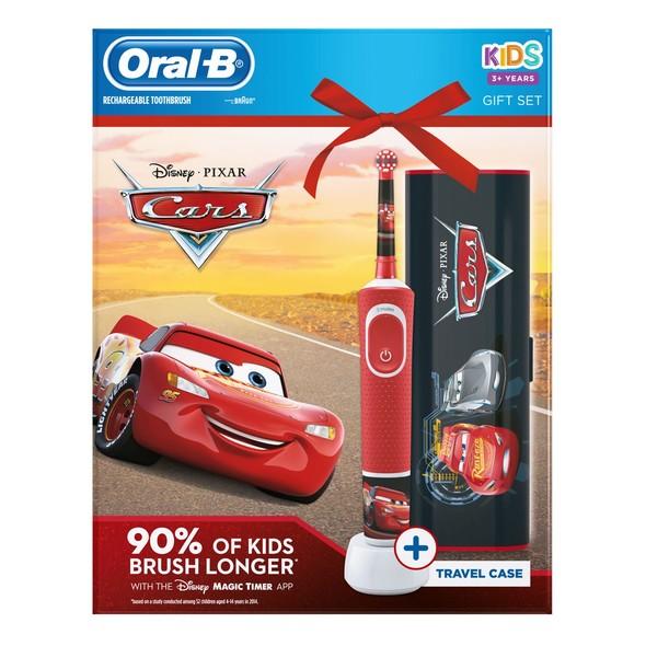 Oral-B Vitality Kids Cars zubná kefka + cestovné puzdro