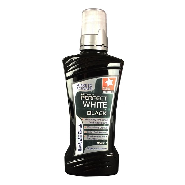 Beverly Hills Formula Perfect White Black ústna voda 500 ml