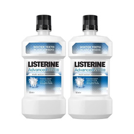 Listerine Advanced White ústna voda 2×500 ml