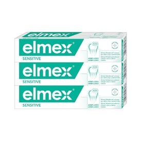 Elmex Sensitive zubná pasta 3×75 ml