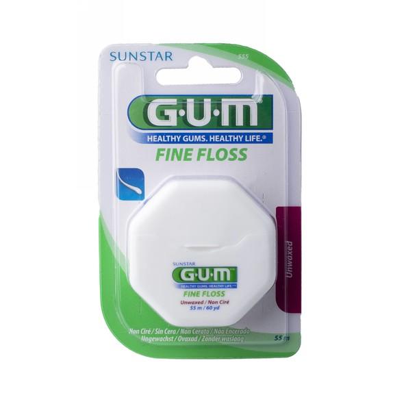 GUM Fine Floss unwaxed nevoskovaná zubná niť 55 m