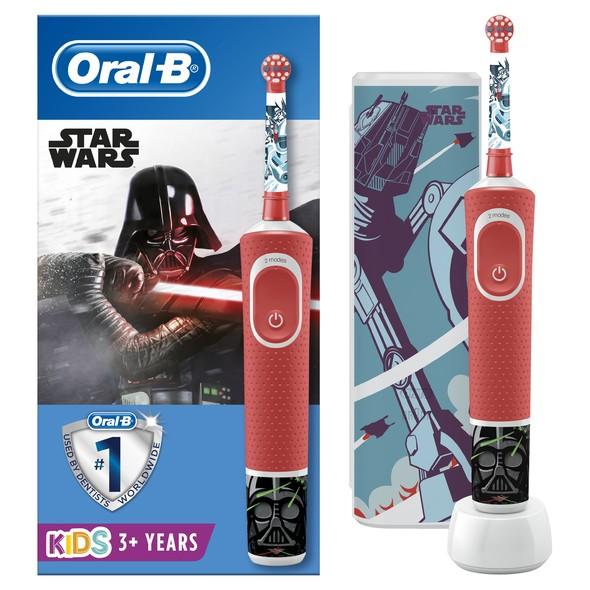 Oral-B Vitality Kids Star Wars detská zubná kefka + cestovné puzdro