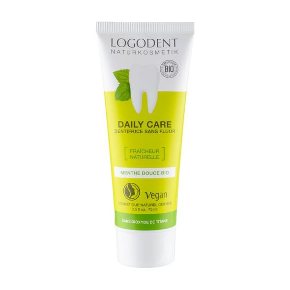 Logodent Peppermint No Fluoride zubná pasta 75 ml