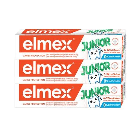 Elmex Junior 6–12 let zubná pasta 3x75 ml