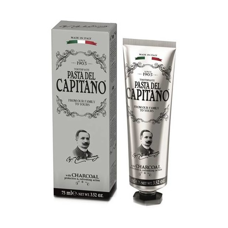 Pasta del Capitano Charcoal zubná pasta 75 ml