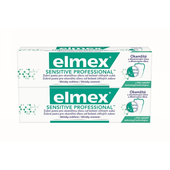 Elmex Sensitive Professional 2x75 ml + Elmex 400 ml