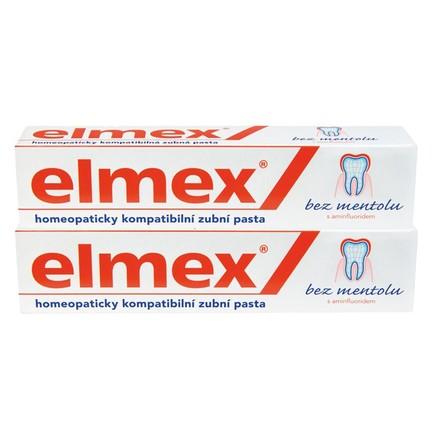 Elmex No Menthol zubná pasta 2x75 ml