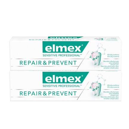 Elmex Sensitive Professional Repair & Prevent zubná pasta 2x75 ml