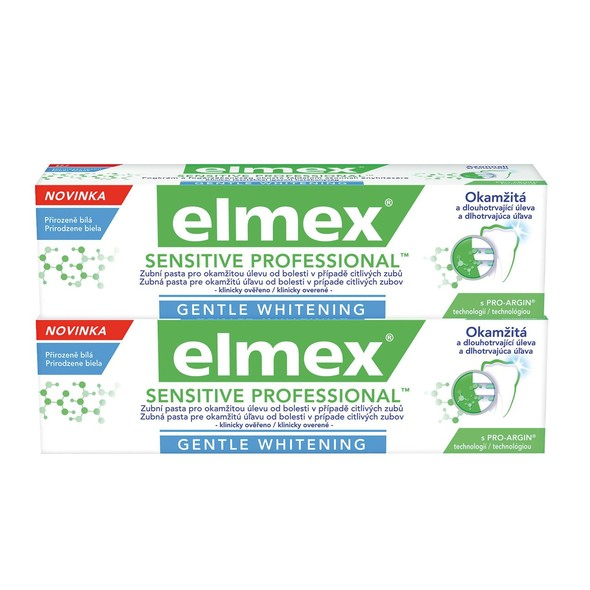 Elmex Sensitive Professional Whitening zubná pasta 2x75 ml