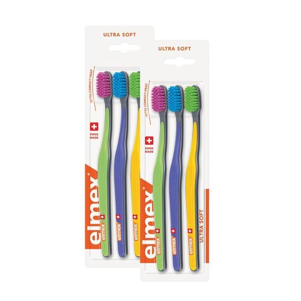Elmex Ultra Soft zubná kefka 6 ks