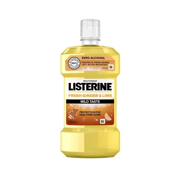 Listerine Fresh Ginger & Lime Mild Taste ústna voda 500 ml