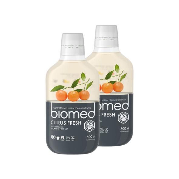 Biomed Citrus Fresh ústna voda 2x500 ml