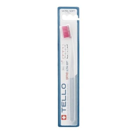 Tello Ortho UltraSoft ortodontická zubná kefka