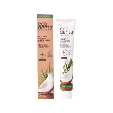 Ecodenta Organic Anti-Plaque Coconut Oil  zubná pasta 75 ml