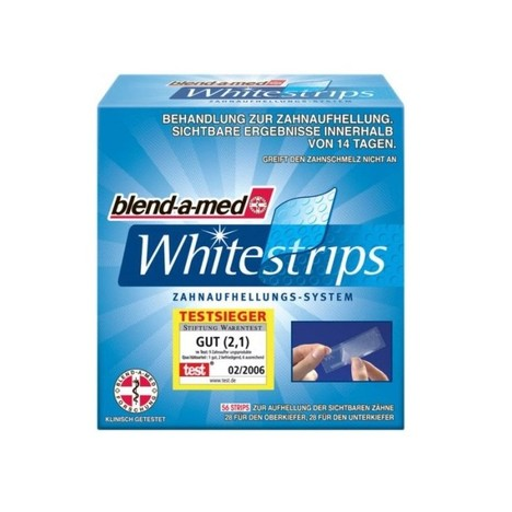 Blend-a-med Whitestrips bieliaci zubné pásky 56 ks