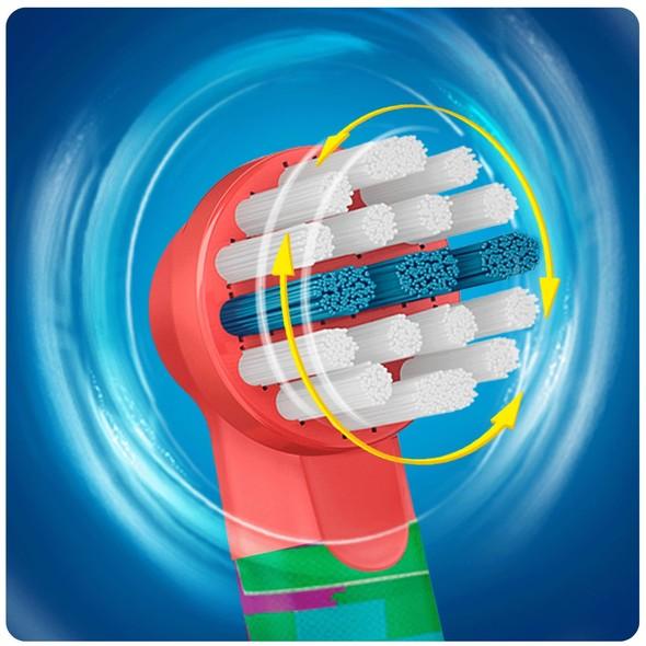 Oral B Stages Kids EB 10-4 MN náhradné kefky 4ks - AUTÍČKO