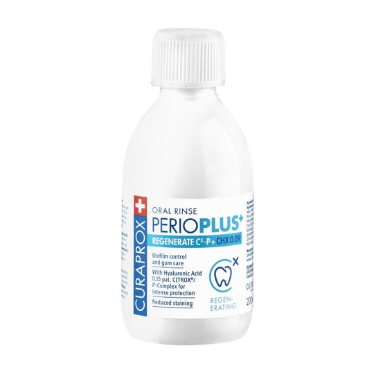 Curaprox Perio Plus+ Regenerate 0,09% ústna voda 200 ml