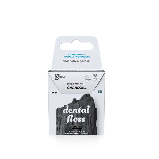 The Humble Floss Charcoal zubná niť 50 m