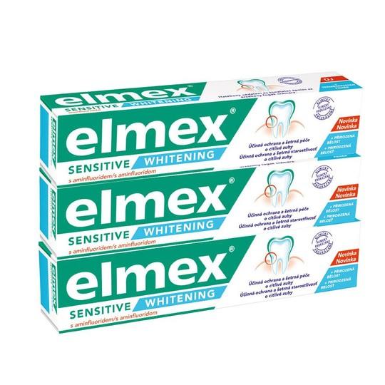 Elmex Sensitive Whitening zubná pasta 3×75 ml