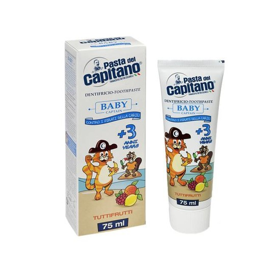 Pasta del Capitano Baby Tutti-Frutti detská zubná pasta 75 ml