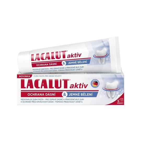 Lacalut Aktiv Gum Protect & Gentle Whitening zubná pasta 75 ml