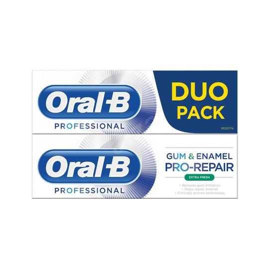 Oral-B Gum & Enamel Professional Extra Fresh zubná pasta 2x75 ml
