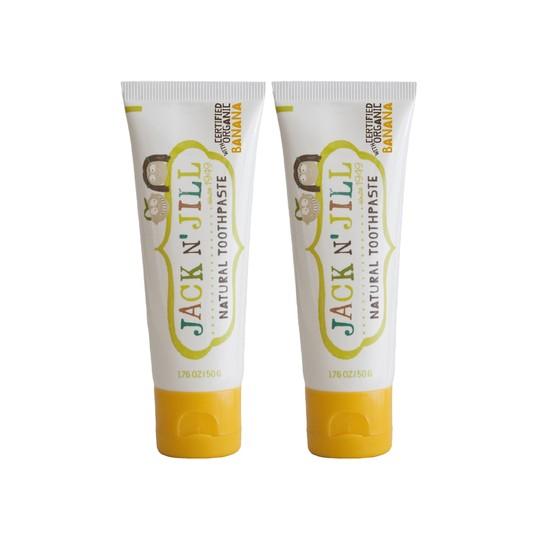 Jack N' Jill Organic Banana detská zubná pasta 2x50 g