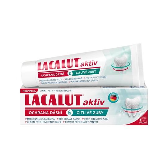 Lacalut Aktiv Gum Protect & Sensitive Teeth zubná pasta 75 ml
