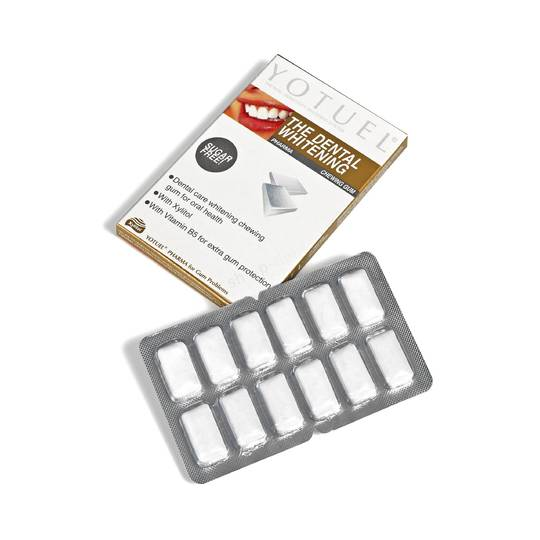 Yotuel bieliaci žuvačky Pharma 12 ks